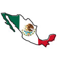 simplified map of mexico outline with slightly vector image