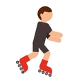skater isolated icon design vector image vector image