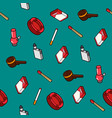 smoking flat outline isometric pattern vector image vector image