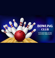 sport club banner realistic style vector image