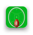 square icon of australian rules football sport vector image vector image