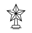 star toy line icon concept sign outline vector image vector image