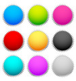 starburst flash shapes in 9 color vector image vector image