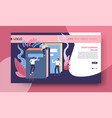 start learning online web page template distant vector image