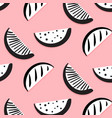 summer funny pattern with monochrome vector image