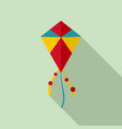 summer kite icon flat style vector image vector image