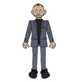 the funny man in a gray snit vector image vector image
