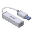 usb to lan port icon isometric style vector image