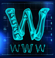 w letter capital digit roentgen x-ray vector image vector image