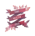 Watercolor flower ribbon vector image