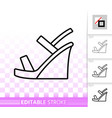 Women shoes simple black line icon