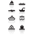 boat symbol set vector image