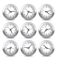 Wall Clock Set on White Background vector image