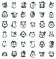 Animal Head Set vector image