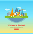 welcome to thailand travel poster vector image
