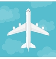 airplane top view near clouds vector image