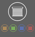 icons for roller blinds vector image