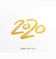 2020 happy new year background big gold vector image