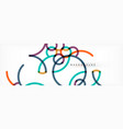 abstract color lines on white modern colorful vector image