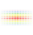alien face spectrum halftone matrix vector image