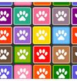 animal paw prints seamless pattern vector image