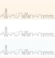 ann arbor hand drawn skyline vector image vector image