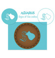 aquarius signs of the zodiac laser cutting can vector image vector image