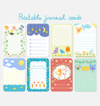 baby shower invitation set journal vector image vector image
