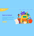 back to school concept with group diverse kids vector image vector image