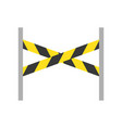 barrier stand police related icon vector image