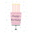 birthday card with cake in scandinavian vector image vector image