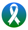 black awareness ribbon sign white icon in vector image vector image