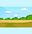blue sky background with decorative picket wooden vector image