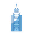 building skyscraper high facade urban outline vector image vector image