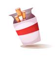 cartoon cigarette unhealthy vector image