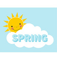 Cartoon Spring Background vector image vector image
