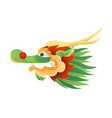 chinese traditional dragon head vector image