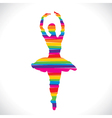 color dancing girl design with strip vector image vector image