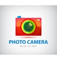 colorful photo camera logo vector image