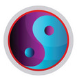colorful symbol taoism religion on a white vector image