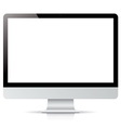 computer display isolated on white background vector image vector image