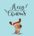 cute reindeer christmas greeting card vector image vector image