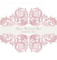 Damask Baroque Ornamental Card vector image vector image