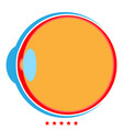 eyeball icon color fill style vector image