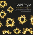 festive background with gold abstract vector image vector image
