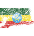 Flag of Ethiopia with old texture vector image vector image
