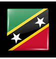 Flag of Saint Kitts and Nevis Glossy Icon Square S vector image vector image