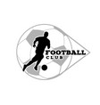 football club human playing ball background vector image vector image