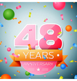 Forty eight years anniversary celebration vector image vector image