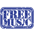 Free Music stamp vector image vector image